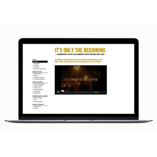 <strong>Screen Design</strong><br/> for the Film: <em>It's Only The Beginning</em><br/>  by Chus Lopez Vidal & Paula Rodriguez